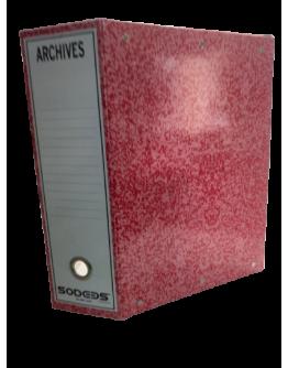 BOITE ARCHIVE PLASTIFIE DOS DE 10 ORANGE - SODEBS