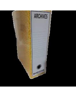boite archive plastifie dos de 10 jaune - SODEBS